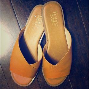 Franco Sarto Brown Leather Sandals NWOT